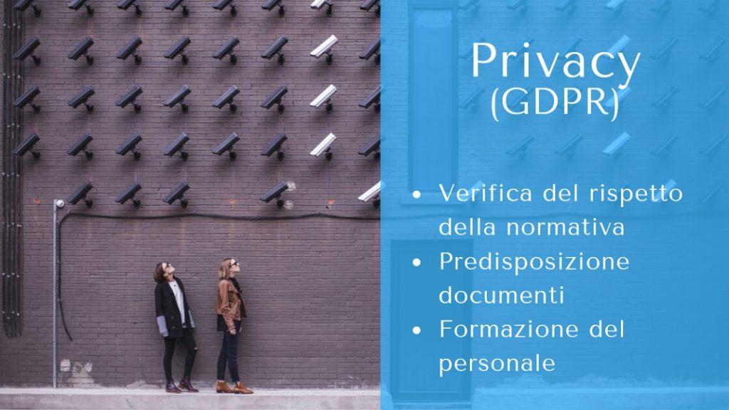 Con l'entrata in vigore nel nuovo Regolamento europeo diventa necessario rivalutare la modalità di gestione dei dati personali. Posso aiutarti a soddisfare la nuova normativa e a formare il personale che viene a contatto con i dati personali.
