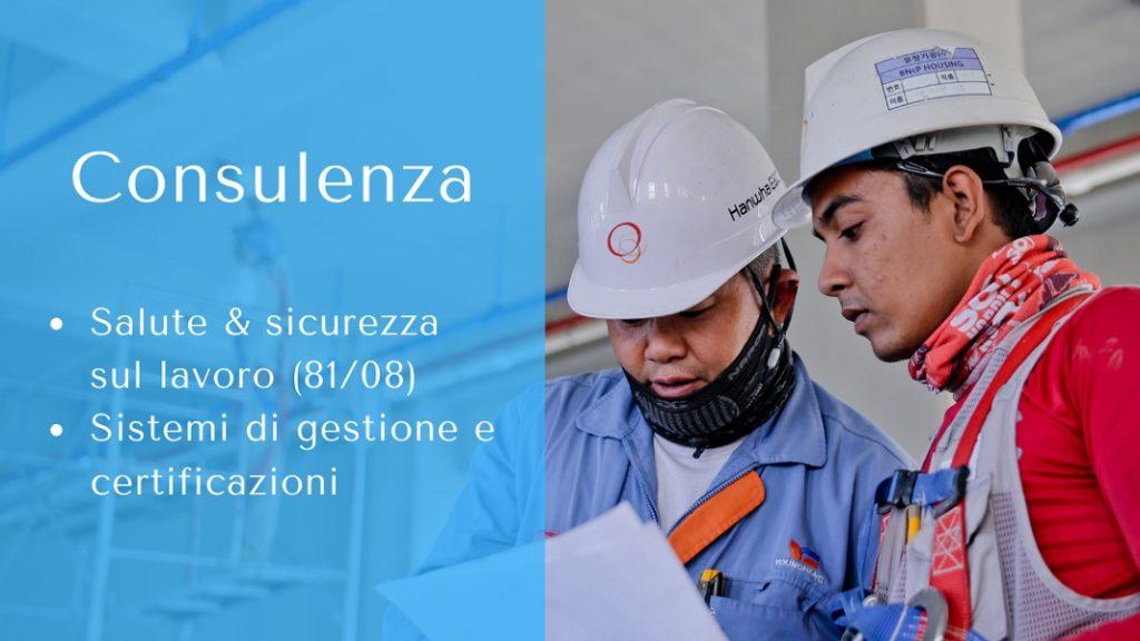 La mia consulenza avviene a due livelli successivi: prima si rispettano gli obblighi di legge in materia di salute e sicurezza sul lavoro, poi si può scegliere di definire un metodo di lavoro attraverso la creazione dei sistemi di gestione.